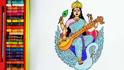 सरस्वती माता का प्राता ध्यान धरे  Sarswati Mata Ka Prata Dhyan Dhare